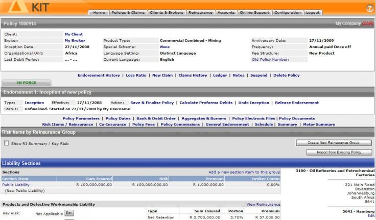 Kit Software Kindle Insurance Technology